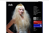 HAIR MAKE AshのWEBデザイン