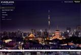 TOKYO SKY TREE&LED PROJECTのWEBデザイン