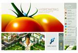 HYBRIDWORKSのWEBデザイン