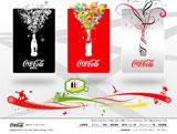 Coca-ColaのWEBデザイン