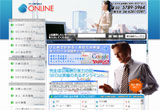 ONLINEのWEBデザイン