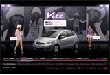 Vitz Girls CollectionのWEBデザイン