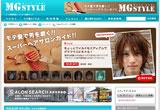MGSTYLE-メンズヘアカタログのWEBデザイン