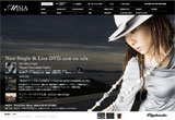 MISIA OFFICIAL WEB SITEのWEBデザイン